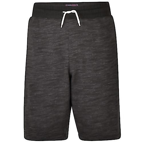 KAM Melange Sweat Shorts Charcoal