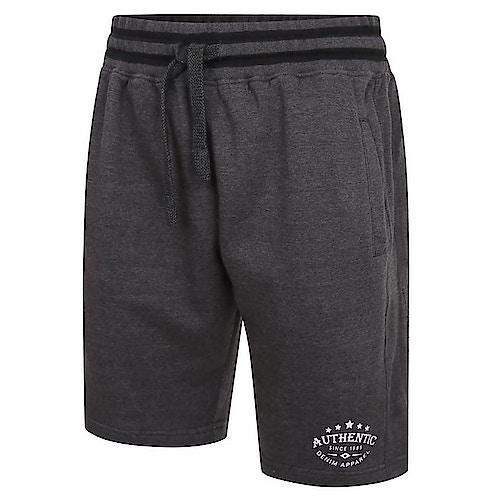 KAM Authentic Print Jog Shorts Charcoal