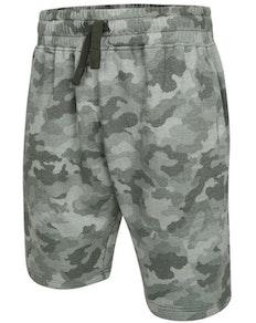 KAM Camo Print Jogger Shorts Olive