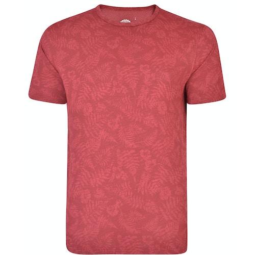 KAM Floral Print Slub T-Shirt Cordovan