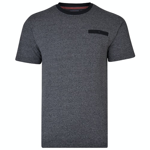 KAM Twisted Weave T-Shirt Navy