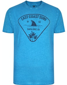 KAM East Coast Acid Wash T-Shirt Turk Blue