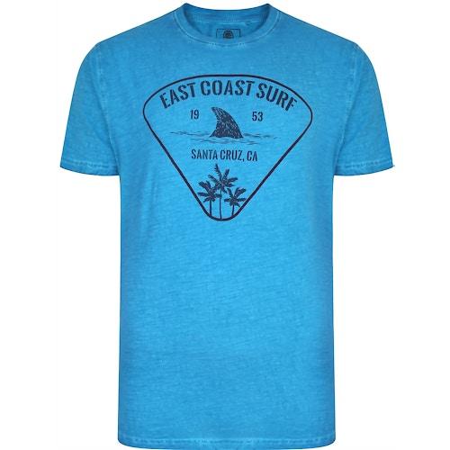 KAM East Coast Acid Wash T-Shirt Turk Blue