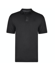 KAM Acid Wash Polo Shirt Black