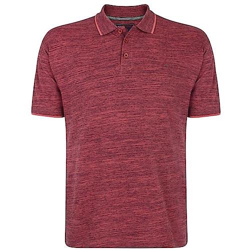 KAM Injected Slub Polo Shirt Cordovan