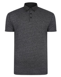 KAM Smart Look Marl Polo Shirt Black