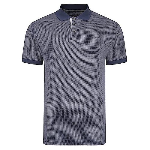 KAM Dobby Slub Weave Polo Shirt Blue