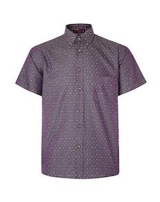 KAM Dobby Weave Short Sleeve Shirt Grape