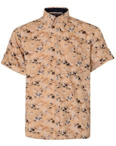 KAM Short Sleeve Floral Print Shirt Sand