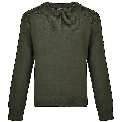 KAM Pullover mit Rundhalsausschnitt Khaki