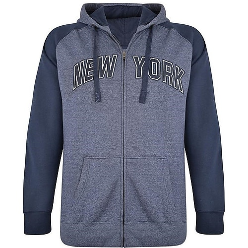 KAM New York Kapuzenpullover mit Reißverschluss Blau