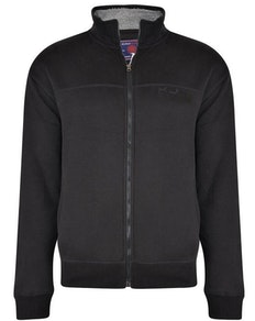 KAM Zip Through Sweater Black