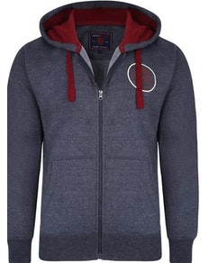 KAM Ride Free Zip Thru Hoody Indigo