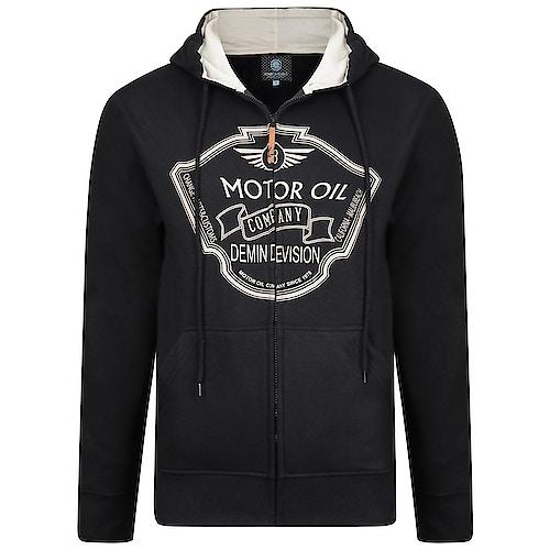 KAM Motor Oil Hoody Black