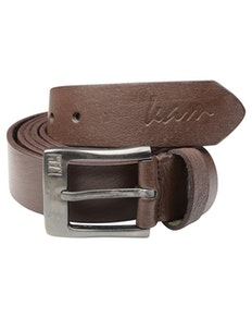 KAM Leather Jeans Belt Brown