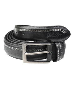 KAM Leather Trouser Belt Black