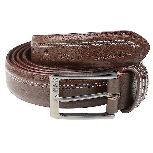 KAM Leather Trouser Belt Brown