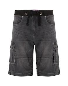 KAM Dito Denim Shorts Charcoal
