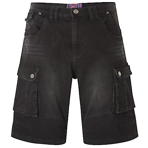 KAM Jeans Cargo Shorts Ivan Schwarz
