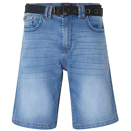 KAM Jeans Shorts Lopez mit Gürtel Mid Wash