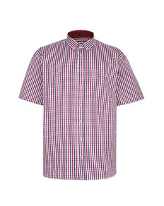 KAM Premium Gingham Check Shirt Red