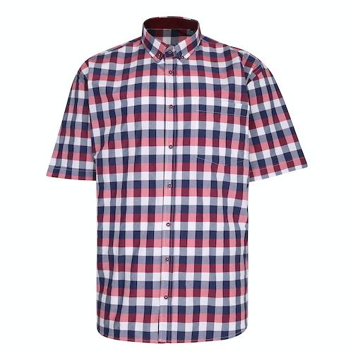 KAM Premium Check Shirt Red