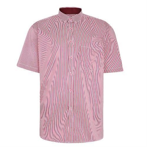 KAM Premium Stripe Shirt Burgundy