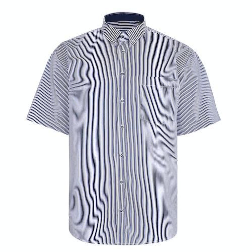 KAM Streifen Premium Hemd Marineblau