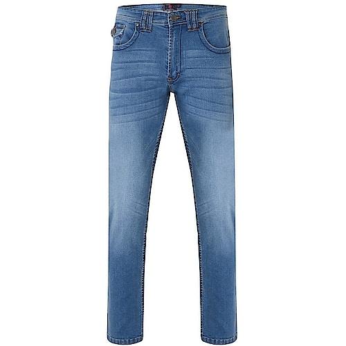 KAM Stretch Jeans Mid Wash Blau