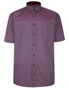 KAM Premium Diamond Stitch Shirt Wine