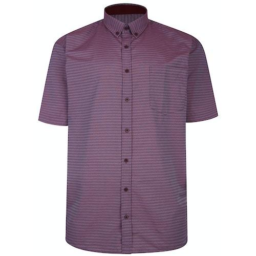 KAM Premium Diamond Stitch Shirt Wine