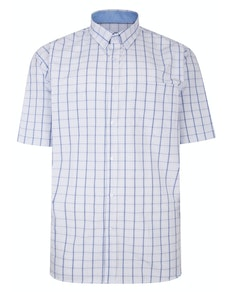 KAM Premium Check Shirt Blue