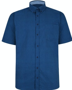 KAM Premium Check Shirt Denim