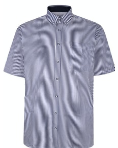 KAM Premium Stripe Shirt Navy