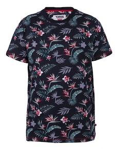 D555 Keating Hawaiian Print T-Shirt Black