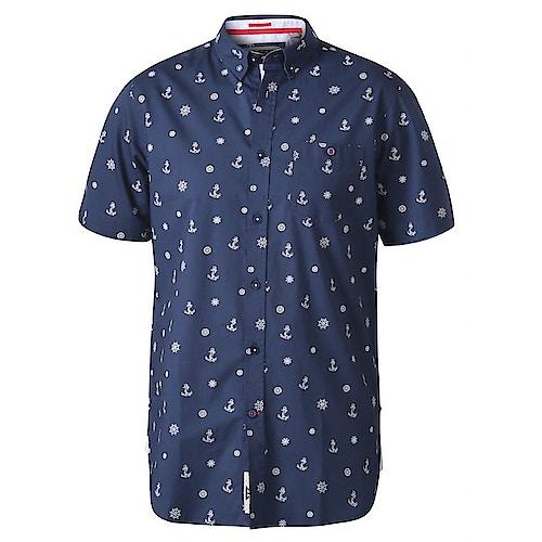 D555 Kirk Nautical Printed Shirt Navy