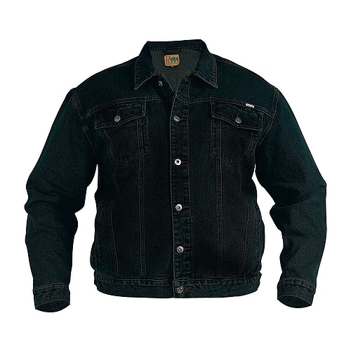 Duke Black Western Style Trucker Denim Jacket
