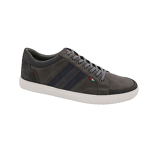 D555 Darian Lace Up Shoe With Contrast Trim Grey