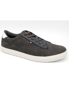 D555 Martin Lace Up Shoe With PU Trims Grey