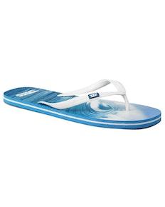 D555 Wellen Flip Flops Blau