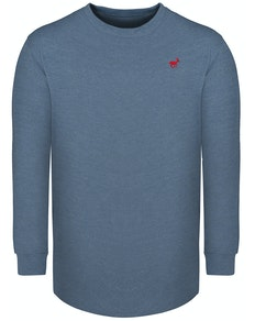 Bigdude Long Sleeve Crew Neck T-Shirt Denim Tall