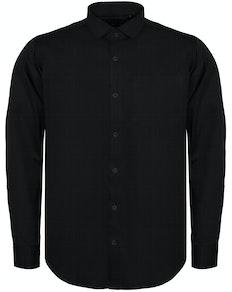 Bigdude Fine Twill Long Sleeve Shirt Black