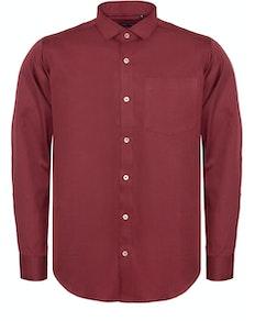 Bigdude Fine Twill Long Sleeve Shirt Burgundy Tall
