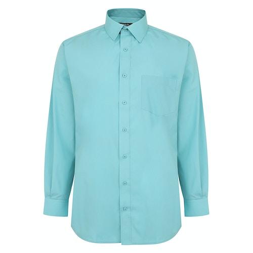 Bigdude Classic Long Sleeve Poplin Shirt Green