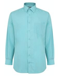 Bigdude Classic Long Sleeve Poplin Shirt Green Tall