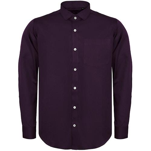 Bigdude Fine Twill Long Sleeve Shirt Plum
