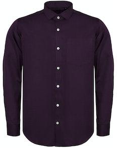 Bigdude Fine Twill Long Sleeve Shirt Plum Tall