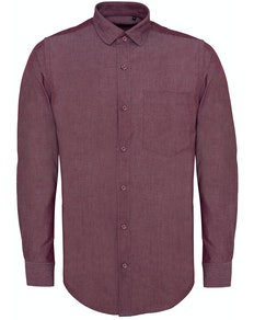 Bigdude Chambray Long Sleeve Shirt Red