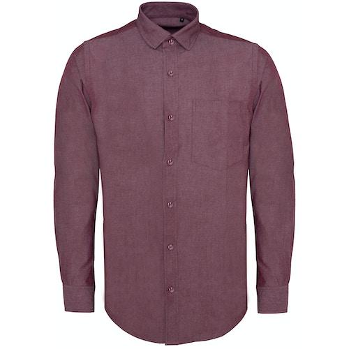 Bigdude Chambray Long Sleeve Shirt Red Tall