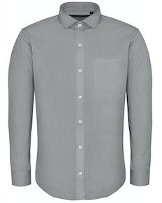 Bigdude Fine Twill Long Sleeve Shirt Stone